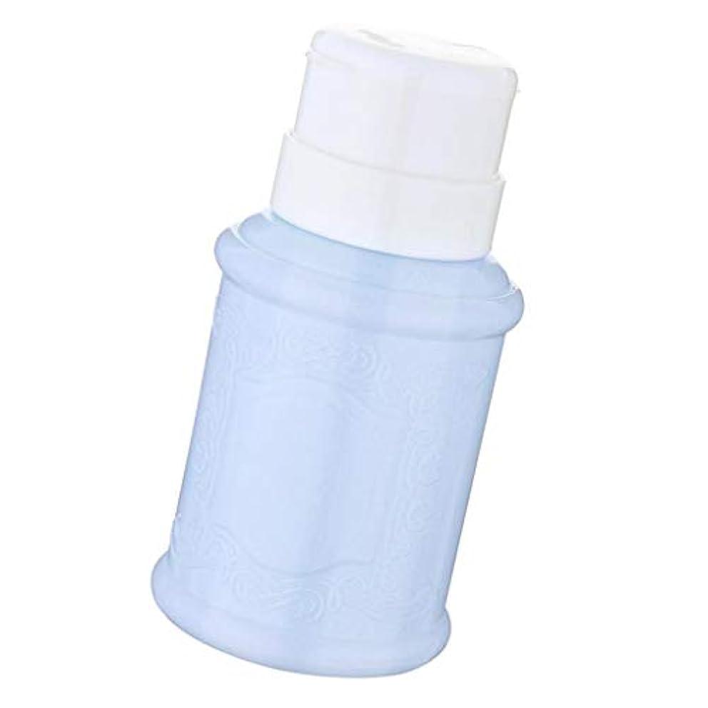 柔和送料姿を消すポンプディスペンサー ネイル リットル空ポンプ ネイルクリーナーボトル 全3色 - 青