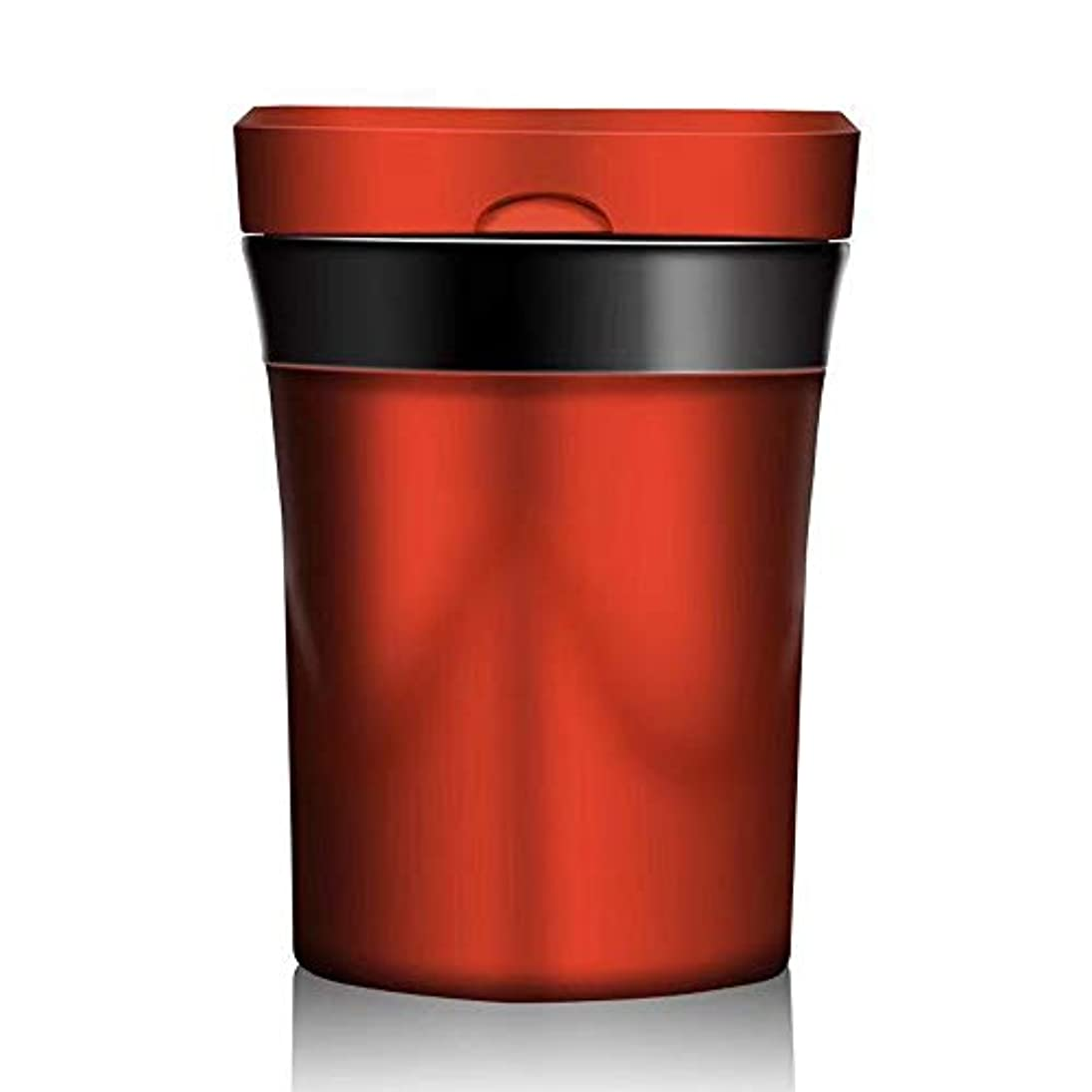 カード教える重荷ふた2色の選択が付いている車の灰皿の創造的な屋外の灰皿 (色 : 赤)