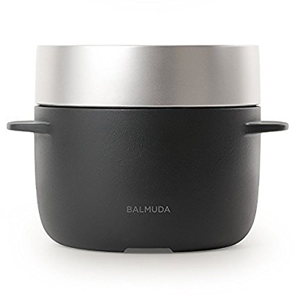 バルミューダ 3合炊き電気炊飯器 BALMUDA The Gohan K03A-BK(ブラック)