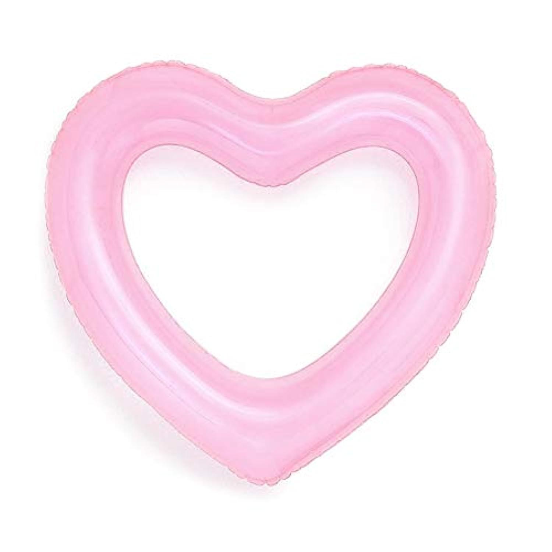 CreamCat 浮き輪 浮輪 フロート 大人用 うきわ ハート かわいい キラキラ スイミング 海 プール 海水浴 ビーチ 夏休み ピンク