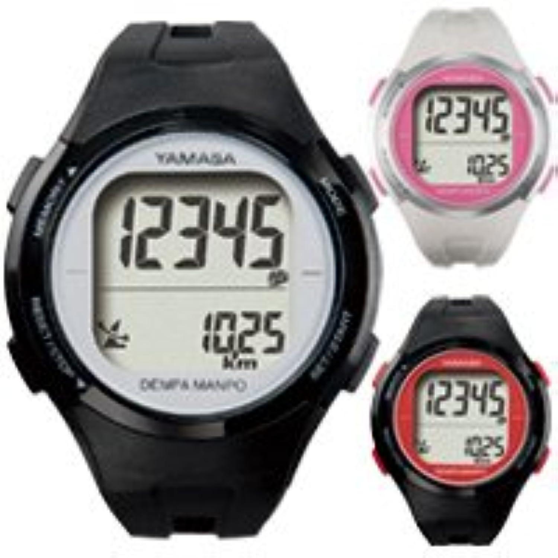 ウォッチ万歩計 腕時計 DEMPA MANPO[電波時計] TM-500 とけい万歩 YAMASA ブラック×シルバー