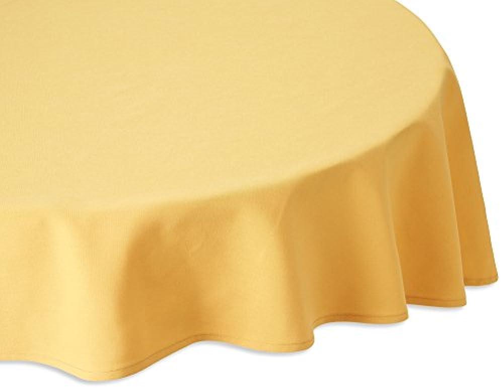 奨学金憂鬱な交流するMAJEST(マジェスト) 円形テーブルクロス 直径160cm 布地 ゴールド 無地 繋なし 吸水タイプ