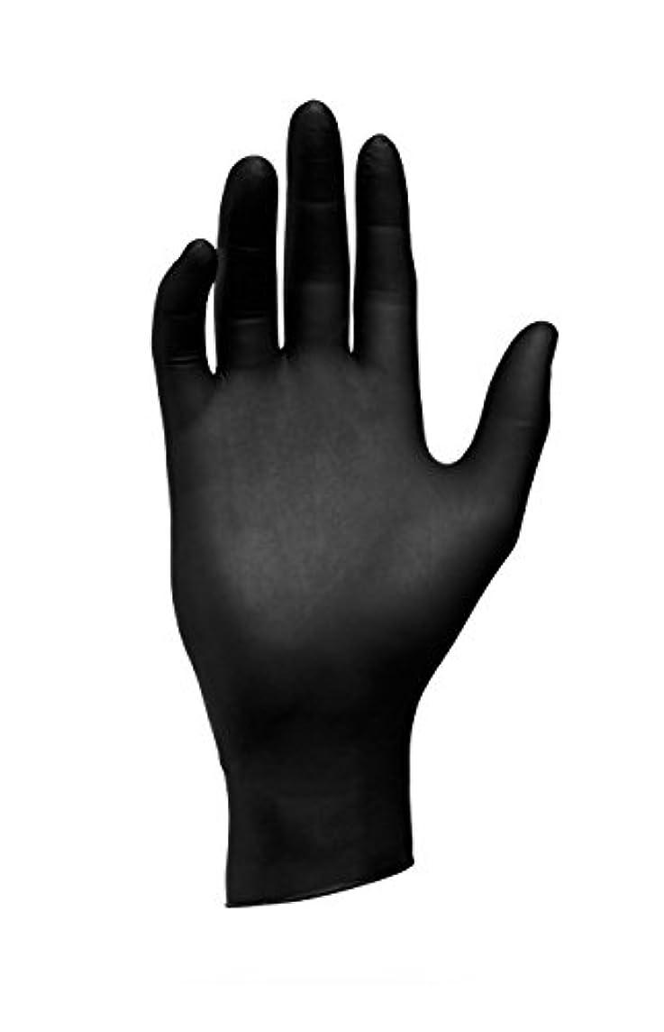 休暇注釈噴出するエバーメイト センパーガード ニトリルブラックグローブ ブラック S(6.0~6.5インチ)甲幅8cm 100枚入 6個セット