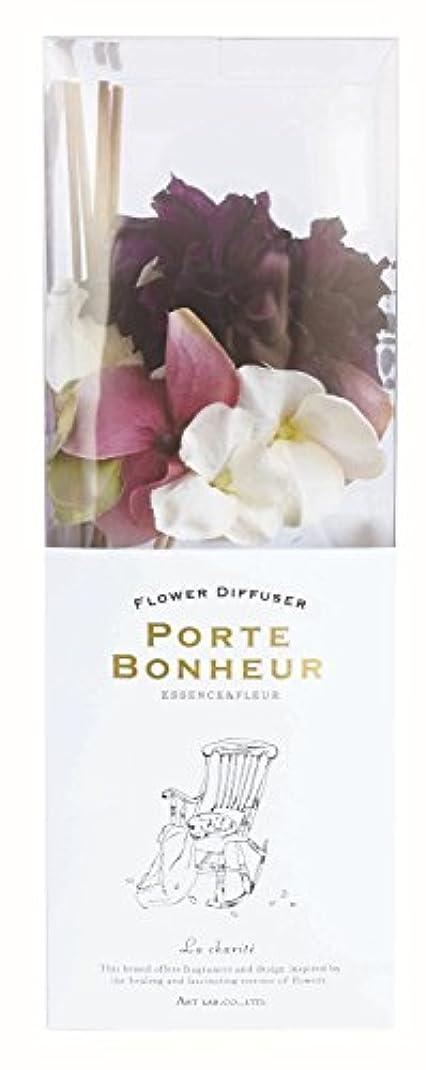 イヤホン聴く徴収アート?ラボ ESSENCE&FLEUR PORTE BONHEUR フラワーディフューザー La Charite 90ml
