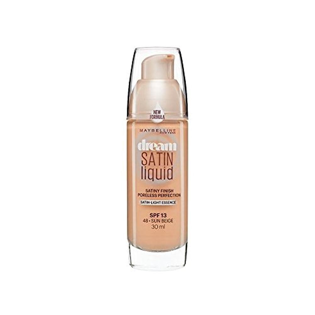 標高所得数Maybelline Dream Satin Liquid Foundation 48 Sun Beige 30ml (Pack of 6) - メイベリン夢のサテンのリキッドファンデーション48日ベージュ30ミリリットル...