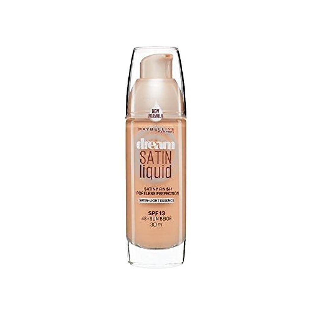 自我稼ぐ病気だと思うMaybelline Dream Satin Liquid Foundation 48 Sun Beige 30ml (Pack of 6) - メイベリン夢のサテンのリキッドファンデーション48日ベージュ30ミリリットル...