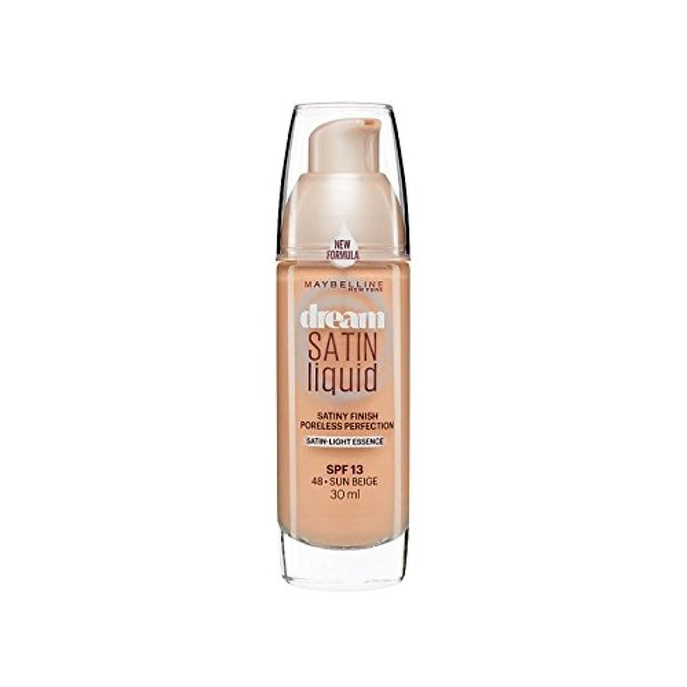 アスペクト支出並外れたMaybelline Dream Satin Liquid Foundation 48 Sun Beige 30ml (Pack of 6) - メイベリン夢のサテンのリキッドファンデーション48日ベージュ30ミリリットル...