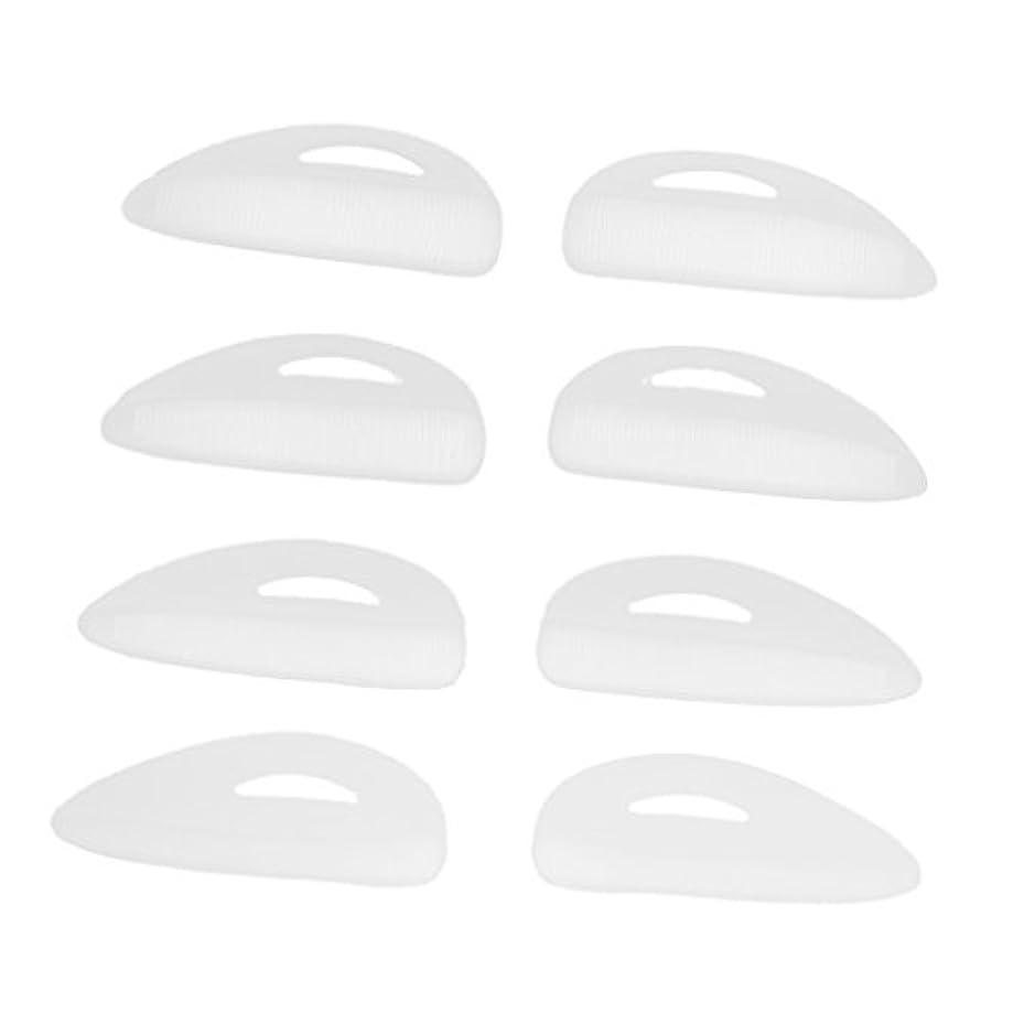 中絶座る更新埋め込まれたリッジS、M、L、LLが付いている4組のシリコンまつげリフトパーマカーラーパッド/シールド/ロッド