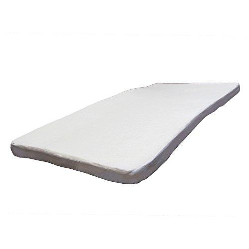 低反発マットレス シングル 密度40D 極厚8cm 洗える カバー 【ホワイト】