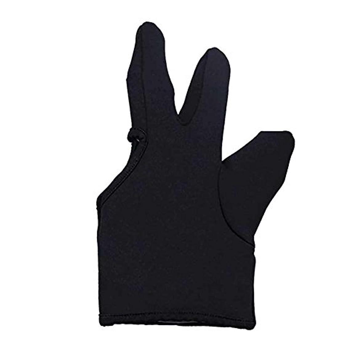 現象神学校予約Liebeye 3本の指耐熱フィンガー保護手袋 ヘアスタイリングツール