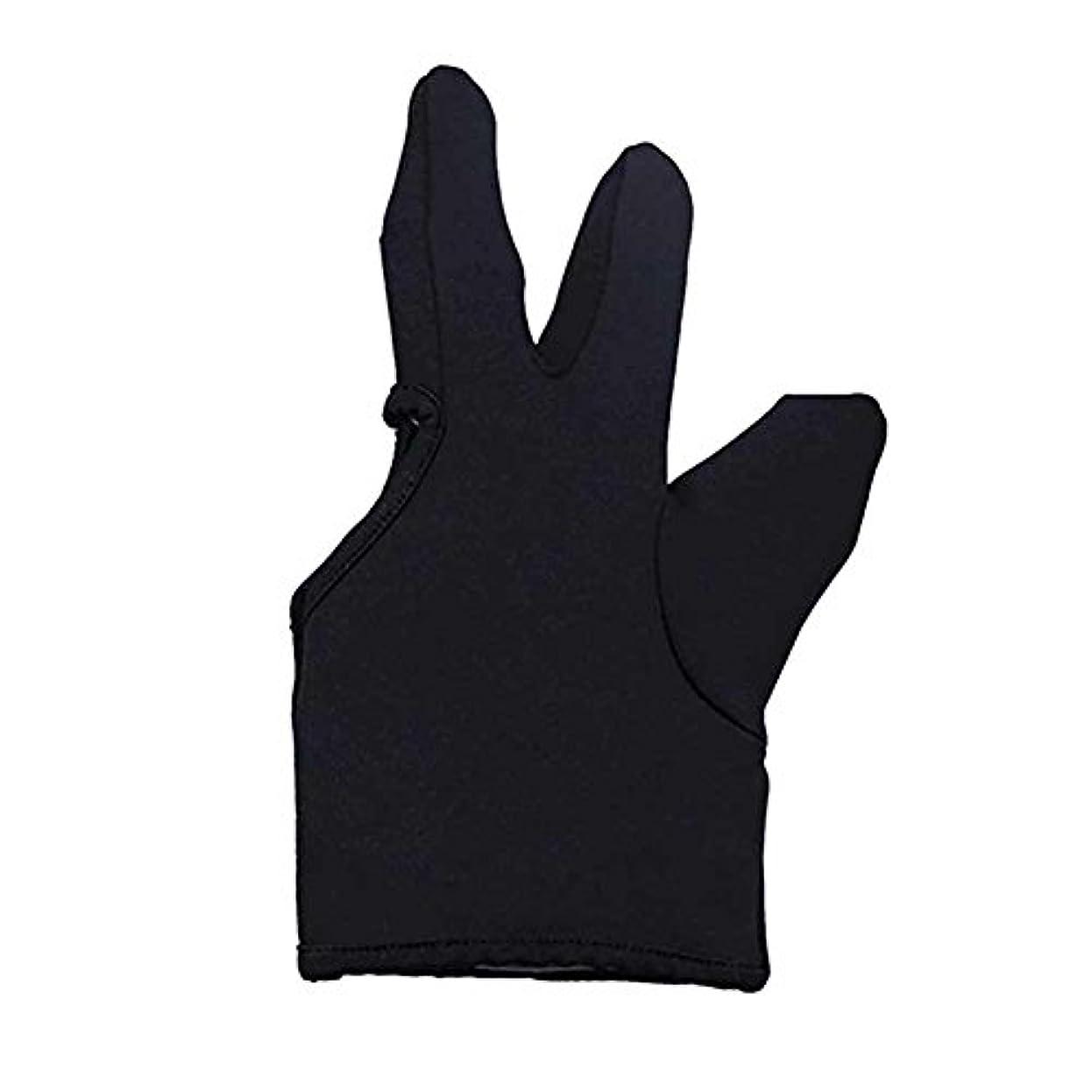 顕著堂々たる家庭Liebeye 3本の指耐熱フィンガー保護手袋 ヘアスタイリングツール