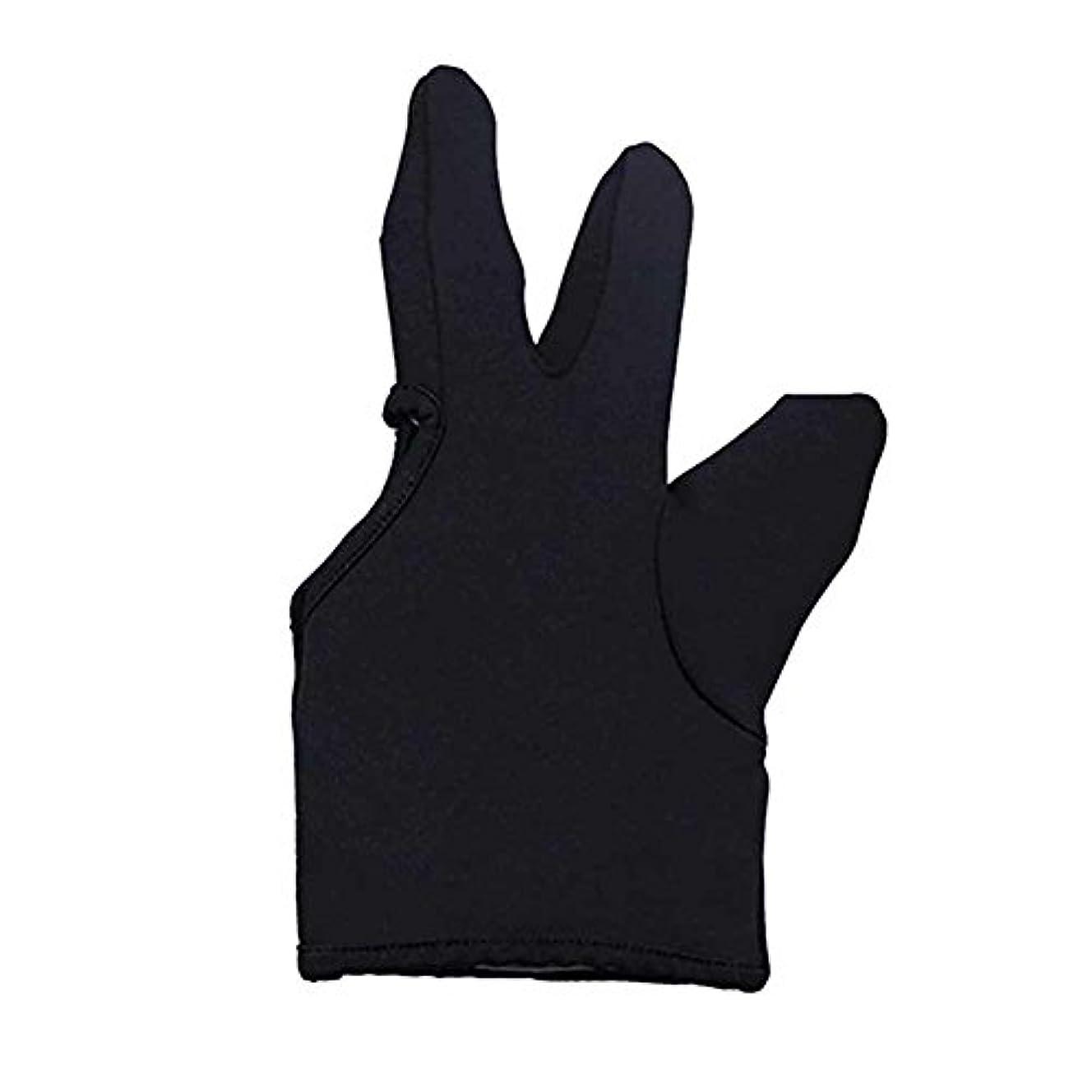 ふくろうクランプ招待Liebeye 3本の指耐熱フィンガー保護手袋 ヘアスタイリングツール