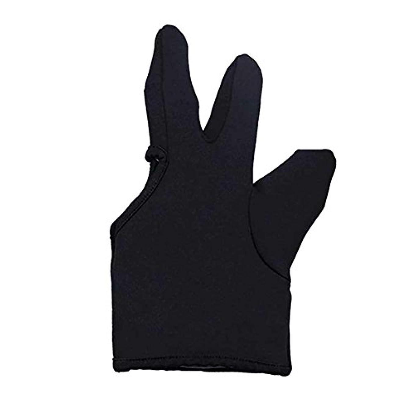 毛皮法廷核Liebeye 3本の指耐熱フィンガー保護手袋 ヘアスタイリングツール