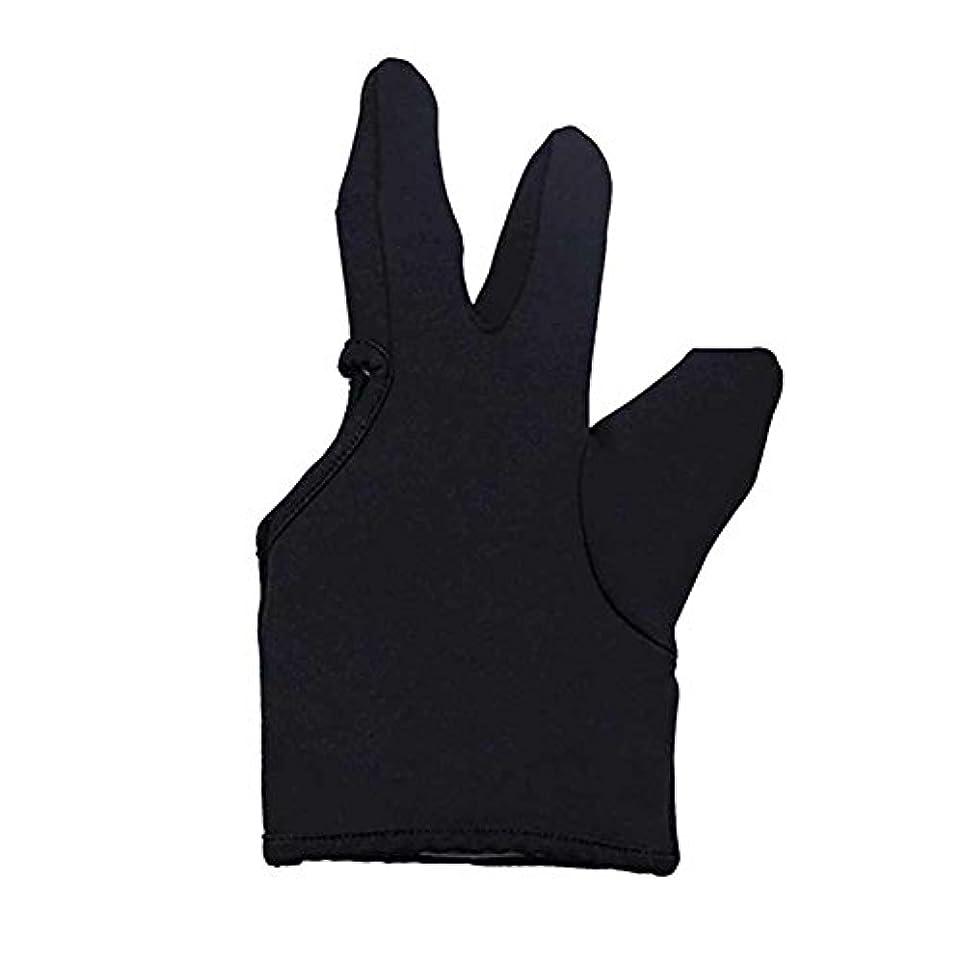 留め金ハイブリッド卑しいLiebeye 3本の指耐熱フィンガー保護手袋 ヘアスタイリングツール