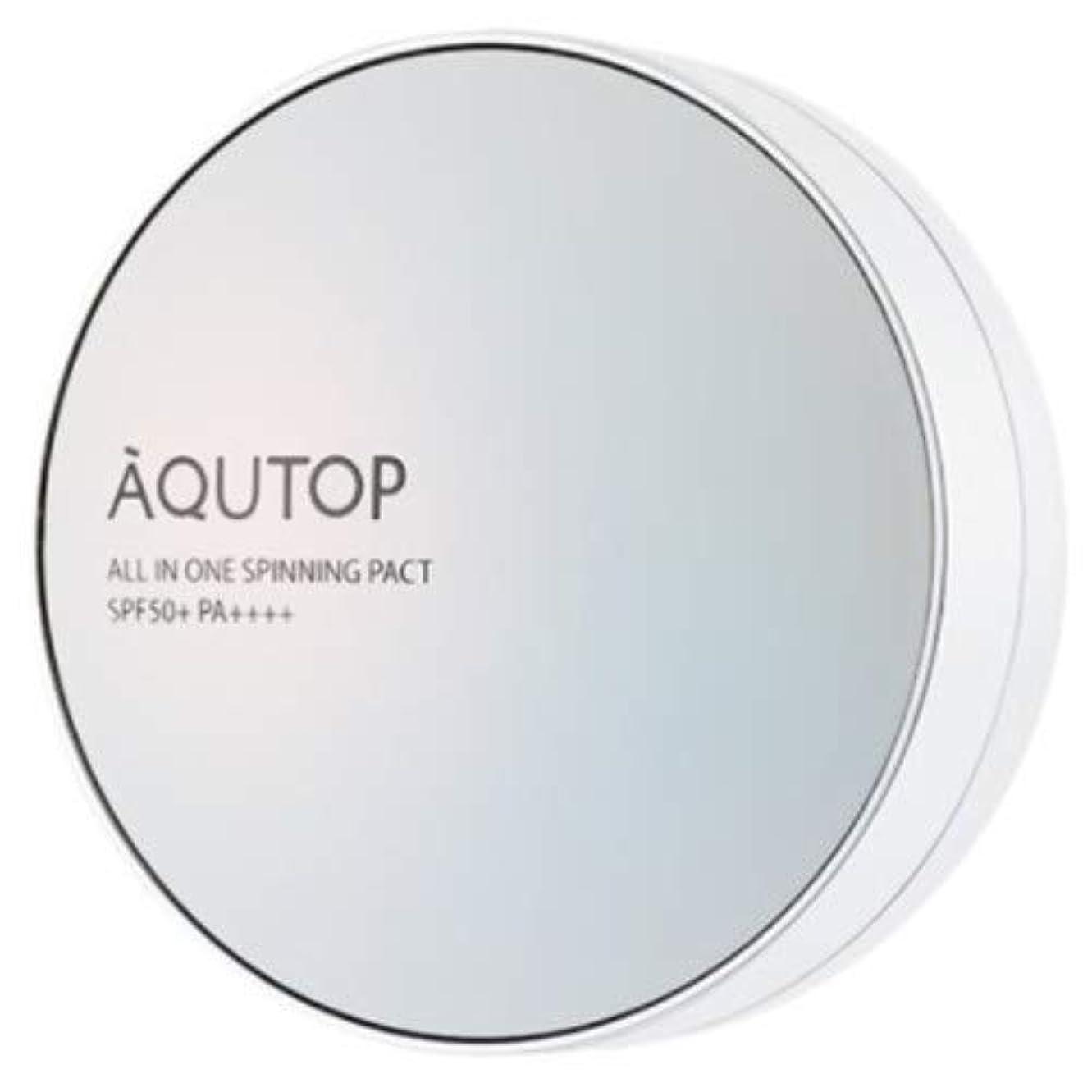 予測子観客勤勉[AQUTOP] アクタップオールインワンスピニングファクト SPF 50+ PA ++++ / AQUTOP ALL IN ONE SPINNING PACT [並行輸入品] (21号 ライトベージュ)