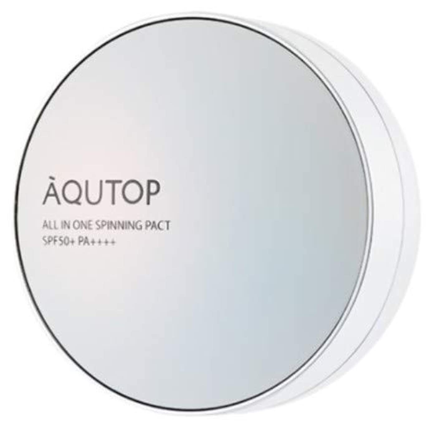 寄付するオピエートマーク[AQUTOP] アクタップオールインワンスピニングファクト SPF 50+ PA ++++ / AQUTOP ALL IN ONE SPINNING PACT [並行輸入品] (21号 ライトベージュ)