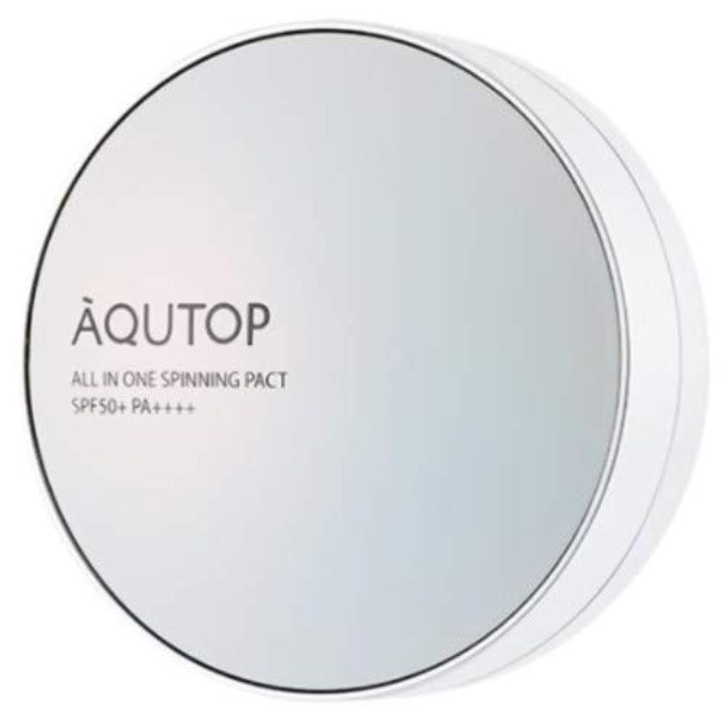 シャイ優れましたコンパイル[AQUTOP] アクタップオールインワンスピニングファクト SPF 50+ PA ++++ / AQUTOP ALL IN ONE SPINNING PACT [並行輸入品] (21号 ライトベージュ)