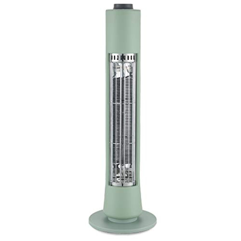 400W電気タワーヒーター、家庭、オフィス、省エネルギーヒーターファンバスルーム室内用パーソナル遠赤外線ヒーターヒーター (色 : Green)