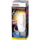 東芝ライテック LED電球 一般電球形 T形 全方向タイプ 断熱材施工器具対応 60W 電球色 LDT8L-G/S/60W 口金直径26mm