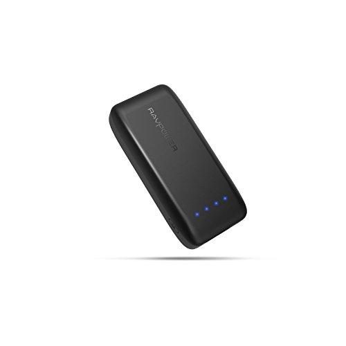 モバイルバッテリー RAVPower 5200mAh 携帯充電器 急速充電 iSamrt2.0機能搭載(2A入力、2.4A出力) iPhone / iPad / Android 等対応 RP-PB002 ブラック