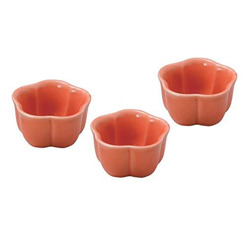 結彩の蔵(Yusainokura) 小鉢 オレンジ梅型珍味 直径5cm カ085-416 3個入