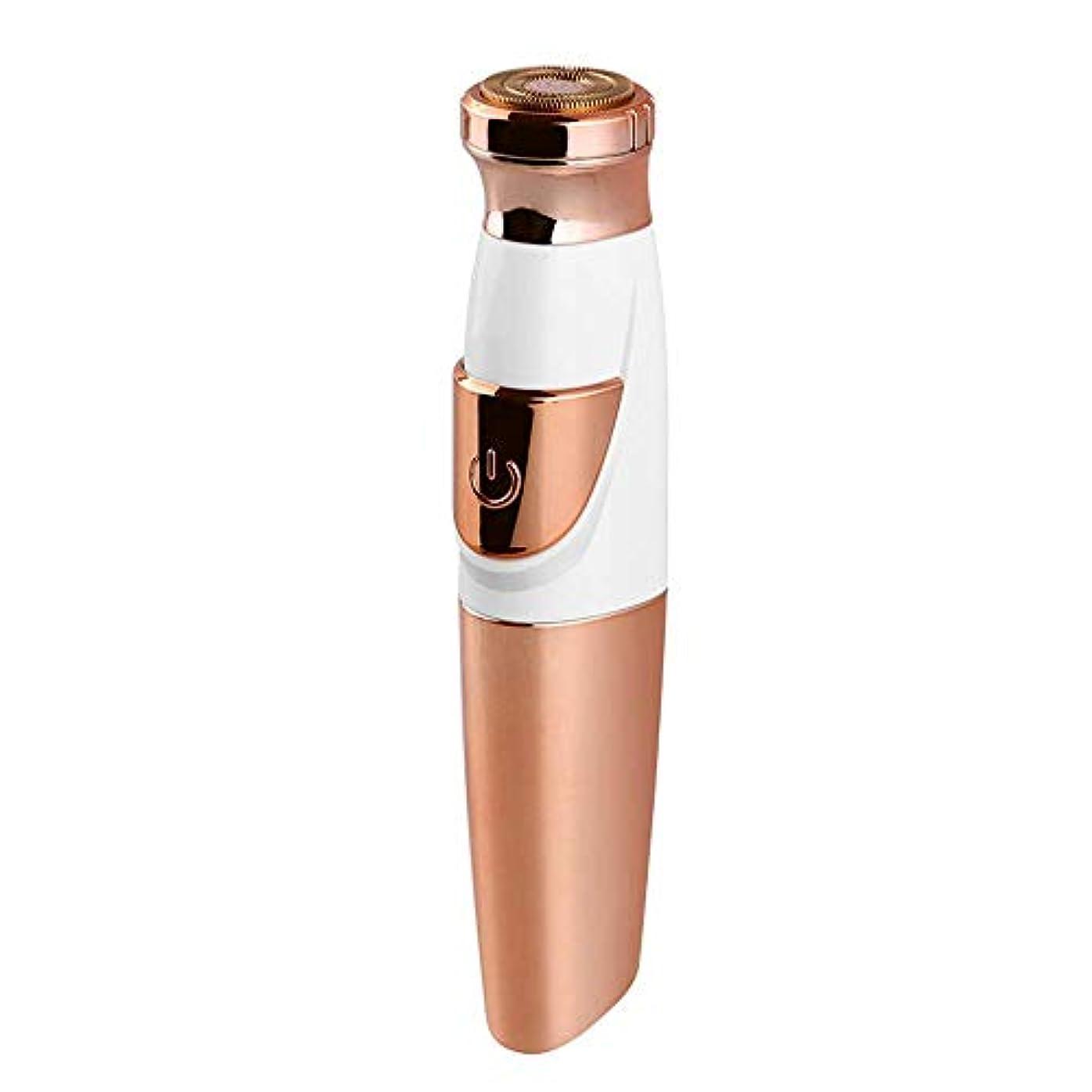 貫入スキム日記女性のためのひげリムーバー、フェイス&ボディ・フェイシャル脱毛器のバッテリーのための完璧なひげトリマーが含まれています