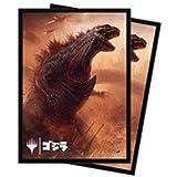 マジック:ザ・ギャザリング MTG公式サプライ 「イコリア:巨獣の棲処」 怪獣イラスト デッキプロテクタースリーブ 逃れ得ぬ災厄、ゴジラ 100枚
