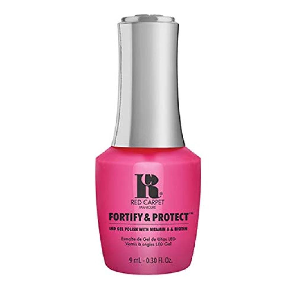 風変わりな漁師恐ろしいRed Carpet Manicure - Fortify & Protect - Publicist In Pink - 9ml / 0.30oz