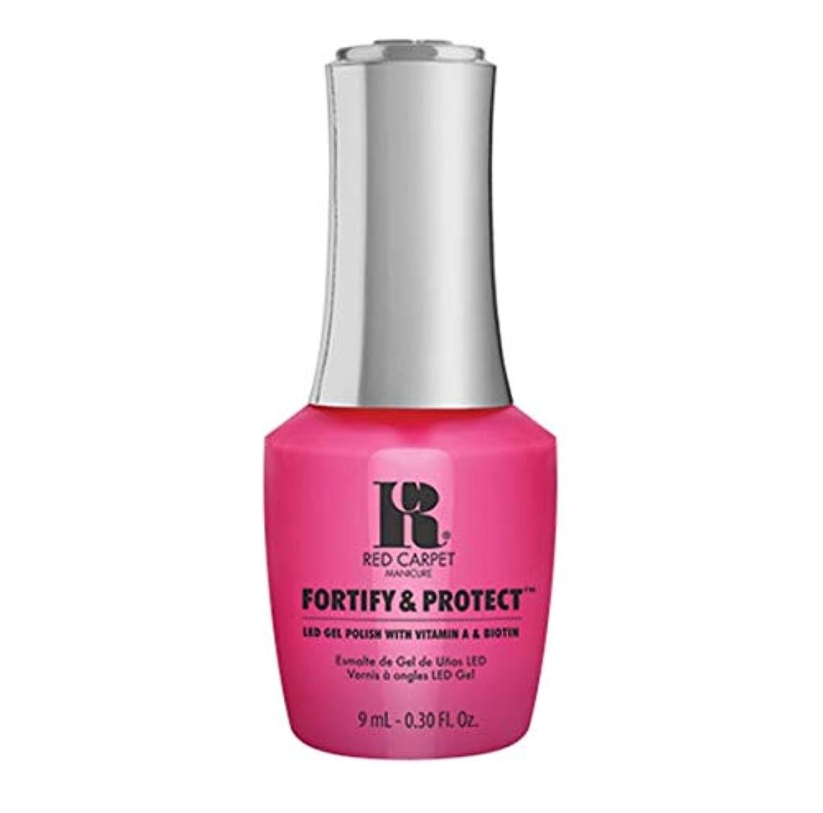 さようなら黙従事するRed Carpet Manicure - Fortify & Protect - Publicist In Pink - 9ml / 0.30oz
