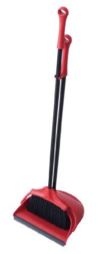 現代百貨 ほうきとちりとりのセット ブルーム&ダストパン ポルテ レッド K416-RD