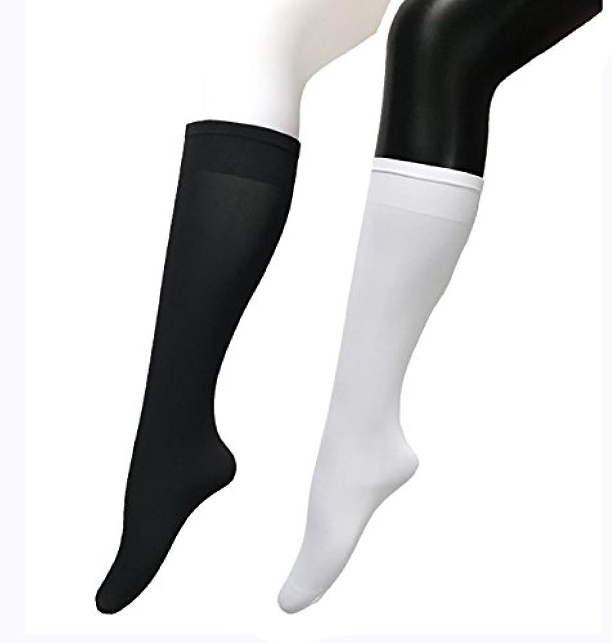マチュピチュ動物園予言するCOSCO ストッキング ソックス ニーソックス 膝下タイプ 着圧 美脚 40CM