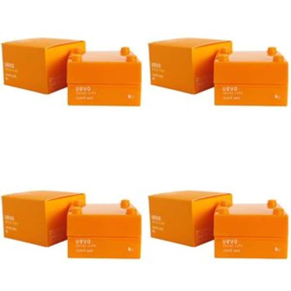 無限力学ずんぐりした【X4個セット】 デミ ウェーボ デザインキューブ ラウンドワックス 30g round wax DEMI uevo design cube