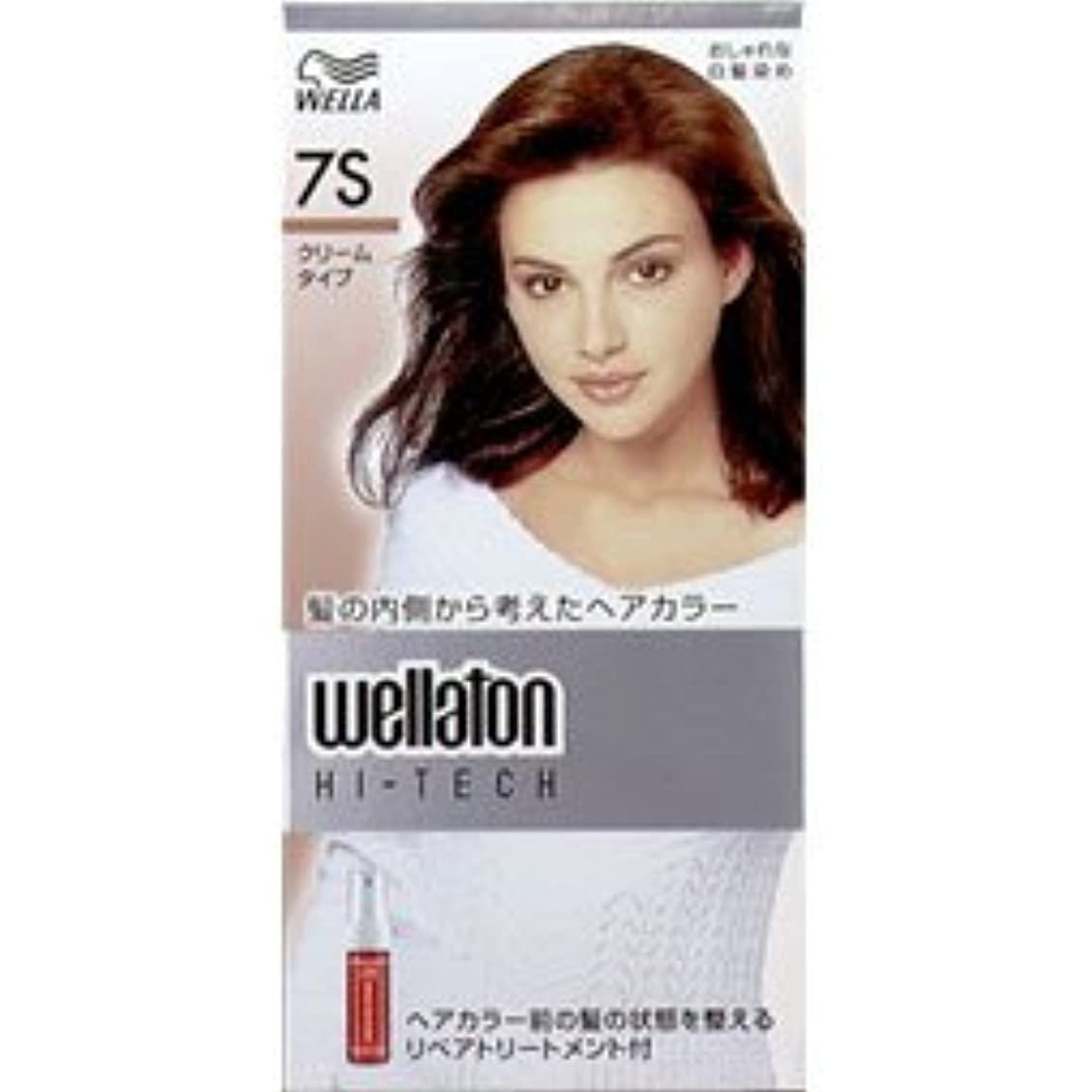 振るうようこそ結核【ヘアケア】P&G ウエラ ウエラトーン ハイテッククリーム 7S 透明感のある明るい栗色 (医薬部外品) 白髪染めヘアカラー(女性用)×24点セット (4902565140602)