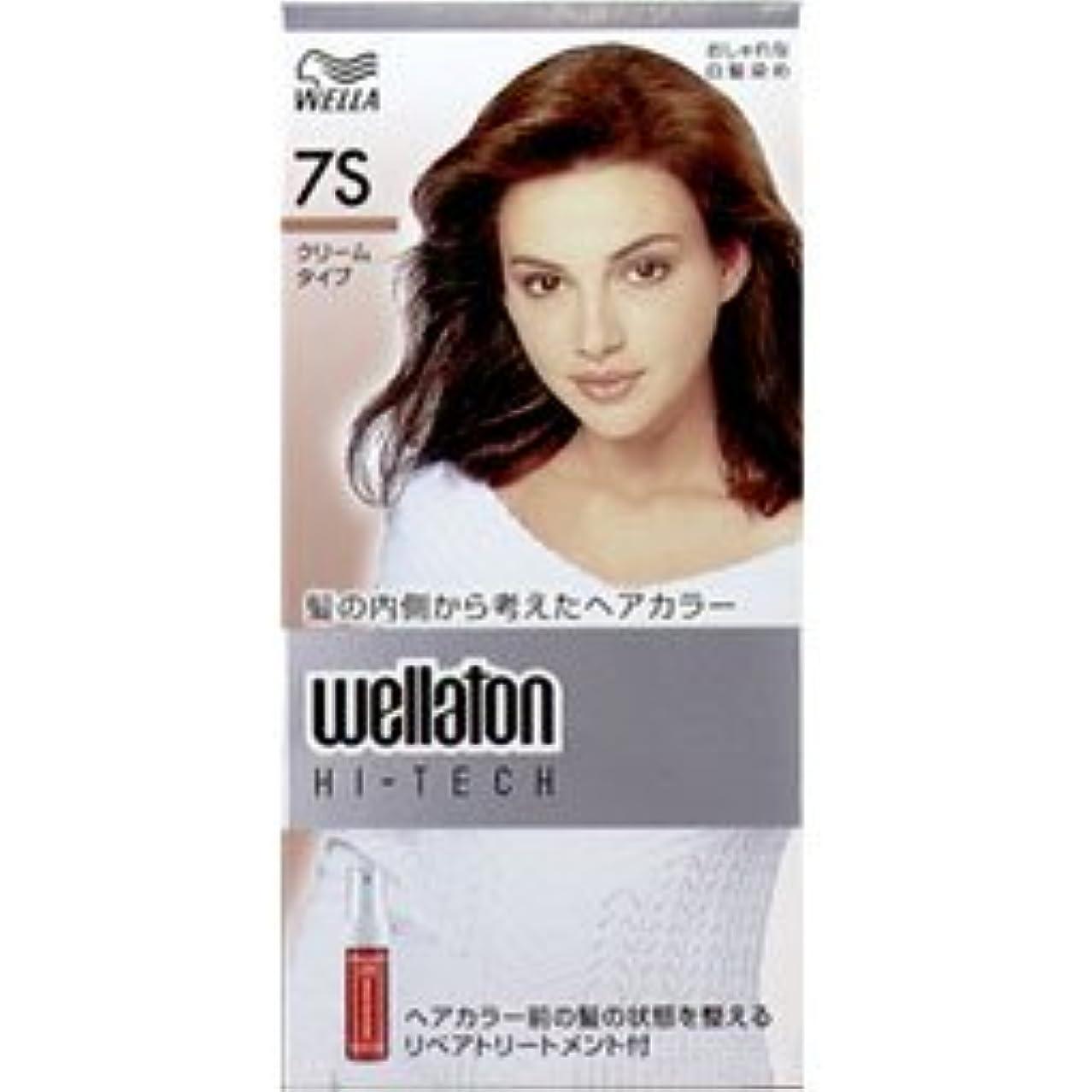 湿地凍結強制的【ヘアケア】P&G ウエラ ウエラトーン ハイテッククリーム 7S 透明感のある明るい栗色 (医薬部外品) 白髪染めヘアカラー(女性用)×24点セット (4902565140602)