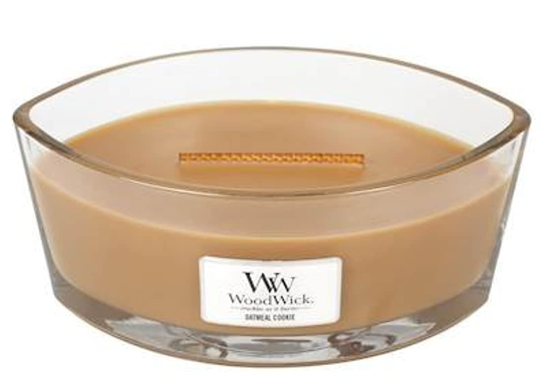 オートミールクッキーHearthWick Flame Scented Candle by WoodWick