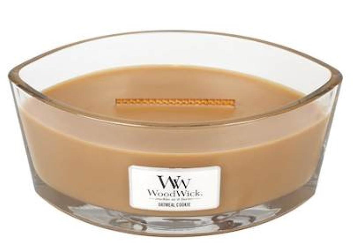 カウントかけがえのないベンチャーオートミールクッキーHearthWick Flame Scented Candle by WoodWick