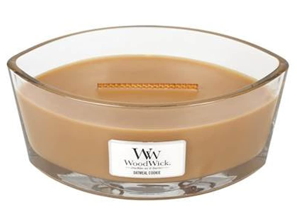 修道院橋第二オートミールクッキーHearthWick Flame Scented Candle by WoodWick