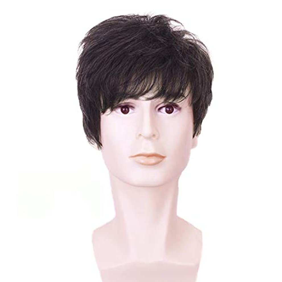 ブレンド公式詐欺YOUQIU メンズ男性ガイウィッグショートレイヤー波状ハロウィンコスプレパーティーの髪10