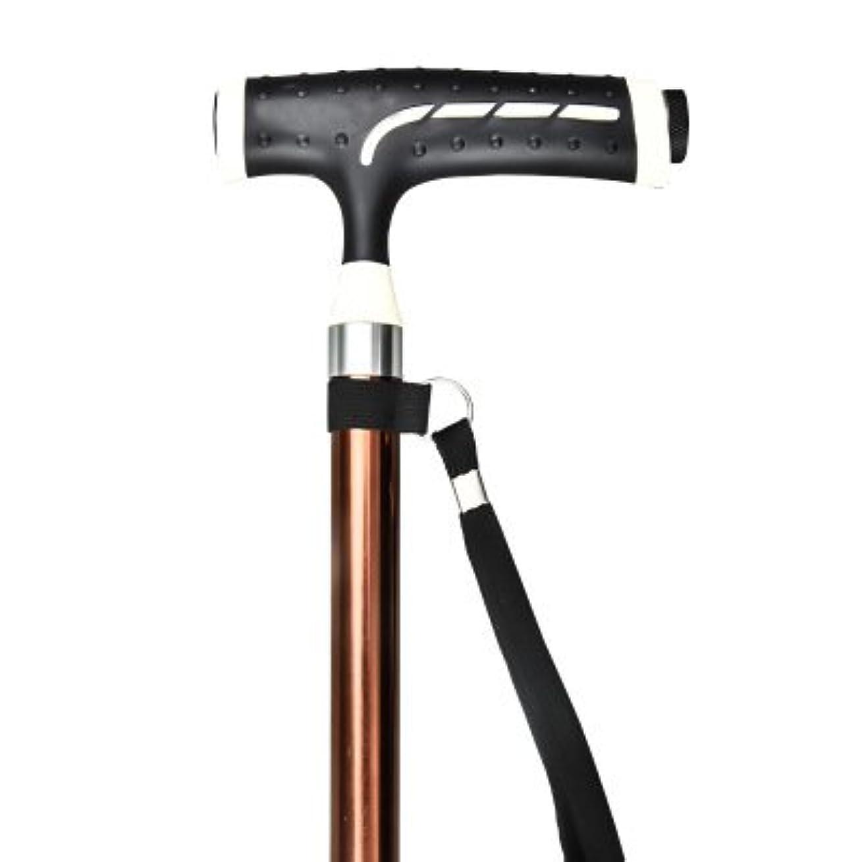 情緒的異なる学校の先生テレスコピックエルダーウォーキングスティックLEDライトマッサージモビリティエイズハイキング伸縮杖と歩くスティック伸縮性松葉杖ブラウンアルミニウム合金アンチスキッド75-96Cm