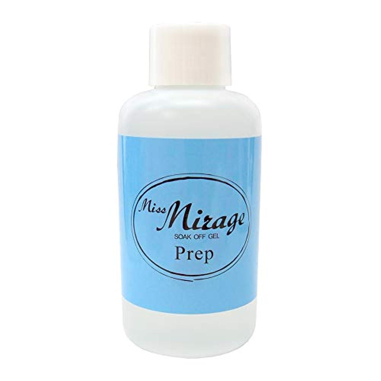できる船酔いに対してMiss Mirage プレップ 120ml 未硬化ジェルの拭き取り
