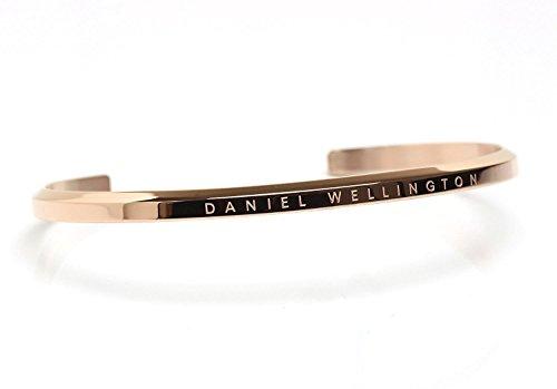 [Daniel Wellington]ダニエルウェリントン バングル ブレスレット Classic Cuff クラシックカフ レディース メンズ (ローズゴールド/スモール) [並行輸入品]