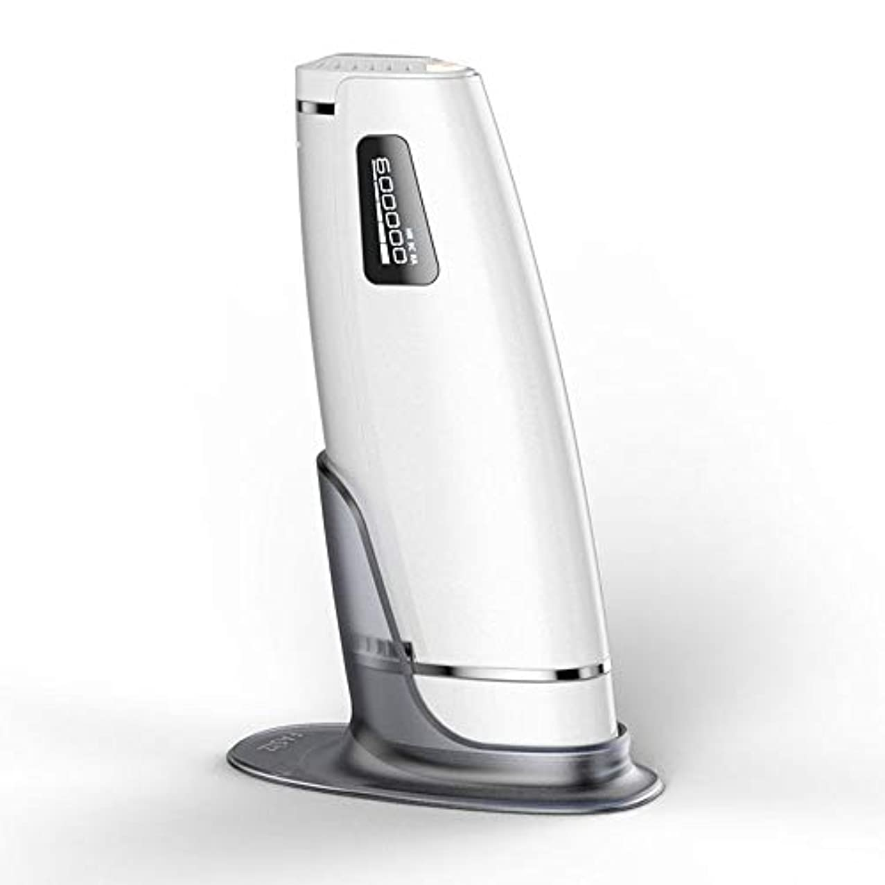 ご飯スポンサー記憶家庭用自動痛みのない毛の除去剤、白、携帯用永久的な毛の除去剤、二重モード、5つの速度調節、サイズ20.5 X 4.5 X 7 Cm 安全性
