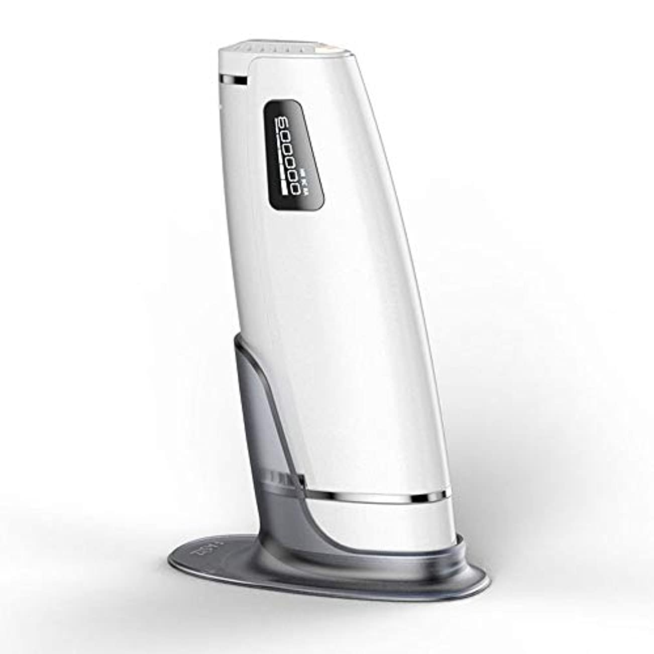 落ち着いた窒息させる歩道Iku夫 家庭用自動痛みのない毛の除去剤、白、携帯用永久的な毛の除去剤、二重モード、5つの速度調節、サイズ20.5 X 4.5 X 7 Cm