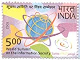 World Summit on The Information Society , Event , Rs 5 Indian Stamp