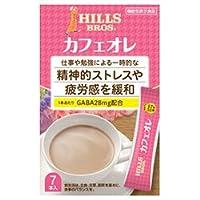 日本ヒルスコーヒー ヒルス カフェオレ GABA配合【機能性表示食品】 12g×7P×24(6×4)箱入×(2ケース)