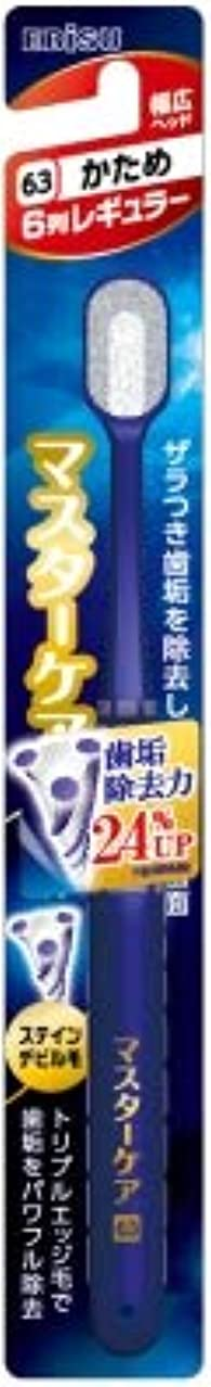 通りトーナメント反論【まとめ買い】マスターケアハブラシ?6列レギュラー かため ×6個