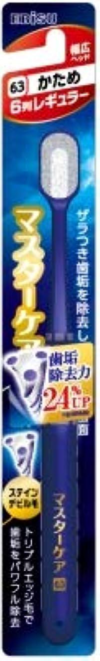 豪華な絶えずワーカー【まとめ買い】マスターケアハブラシ?6列レギュラー かため ×6個