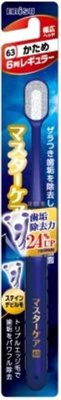 拍手聖書余韻【まとめ買い】マスターケアハブラシ・6列レギュラー かため ×6個