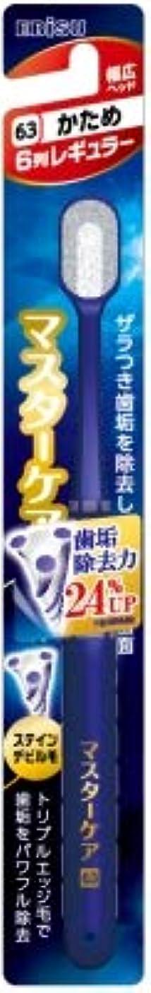十前状況【まとめ買い】マスターケアハブラシ?6列レギュラー かため ×3個