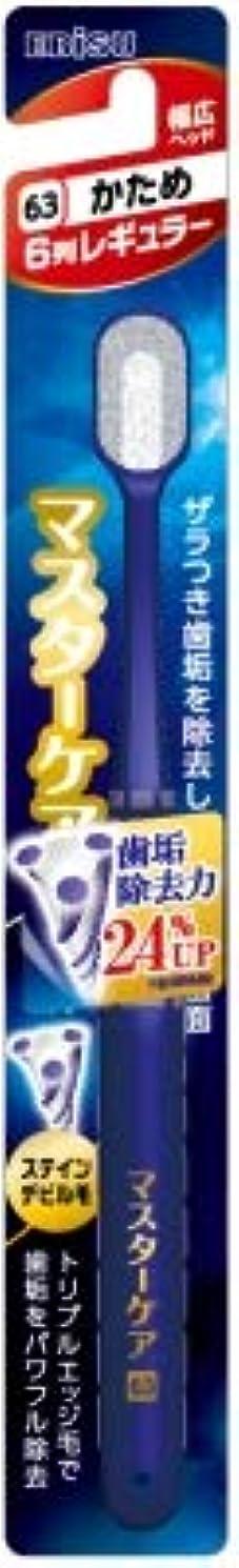 意欲アンペア検閲【まとめ買い】マスターケアハブラシ?6列レギュラー かため ×6個